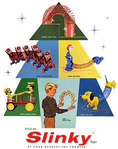 Plan59 :: Retro Vintage 1950s Christmas Ads and Holiday Art :: Slinky, 1957