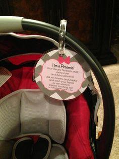 Preemie newborn baby car seat tag baby by TallulahMaeboutique, $6.99