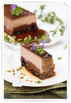 Brownie Flan de Oreos y Chocolate