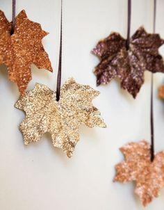 gilded leaves garland