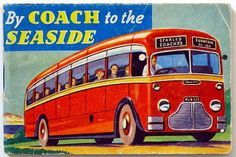 Are we there yet? By Coach to the seaside Vintage book c1950s