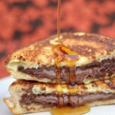 stuffed french toast with nutella....