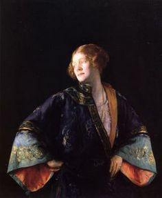 """The Blue Mandarin Coat"", 1922, by Joseph Rodefer DeCamp (American, 1858-1923)"