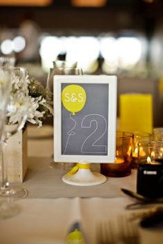 modern table numbers with Ikea picture frames