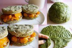 Green Tea and Mango Sandwiches