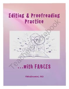 Proofreading Practice with Fables from MissAlexandra on ...