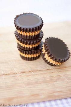 Clean Eating Peanut Butter Cups. ☀CQ #glutenfree #easter