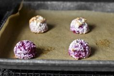 muddle raspberry coconut macaroons by Smitten Kitchen - try it with strawberries; strain frozen rasperries to remove seeds and reduce
