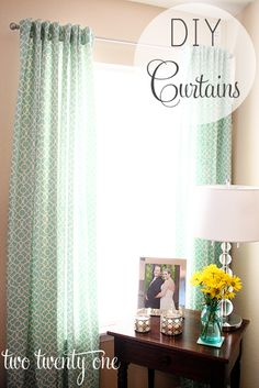 (two twenty one: DIY curtains.) Something I want to try with chevron design material