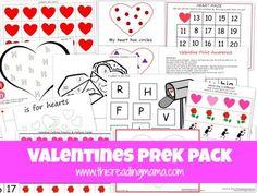 FREE Valentines PreK Pack {This Reading Mama}