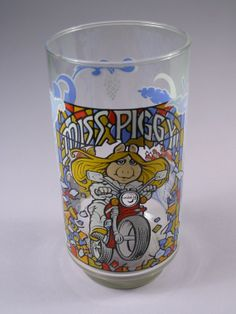 Vintage Miss Piggy Collectable glass by aurorasmirror on Etsy, $14.00
