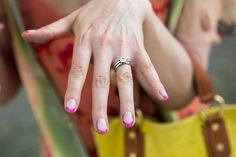 Hot pink tips! #nailart