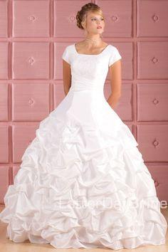 Modest Wedding Dress, Lakewood   LatterDayBride & Prom. Modest Mormon LDS Temple Dress