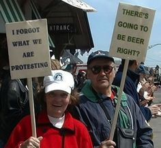 When protesting, you must care deeply about your cause.