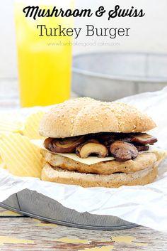 Mushroom and Swiss Turkey Burger #burgers #sandwiches #turkey by lovebakesgoodcakes, via Flickr