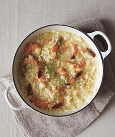 Shrimp and Fennel Risotto from realsimple.com #myplate #protein #grain