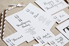 Free Thanksgiving Printables: Beautiful place cards, menu pages, decor and more