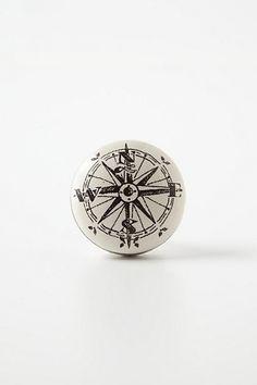 Compass Knob #anthropologie