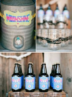 inspiration, craft idea, label, custom beer, big, parti idea, green weddings, drink stations, 1970s inspir