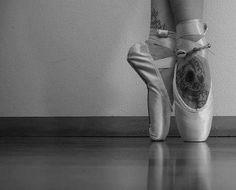 skulls, feet tattoos, ballet dancers, pointe shoes, skull tattoos, art, ballerina, ballet shoes, tattoo ink