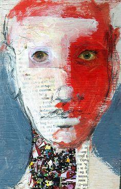 red figure 1- mixed media by Joe Carreon, via Flickr
