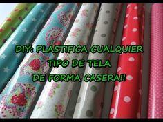 DIY COMO PLASTIFICAR CUALQUIER TIPO DE TELA - YouTube