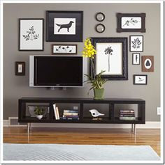 Awesome TV gallery.  Looking for inspiration for our newly painted TV room