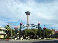Hemisfair Park near the Riverwalk, San Antonio, TX