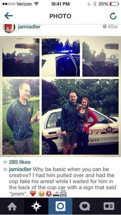 PROMPOSAL: Having police officers pull their date over and give them fake tickets:   This Is How Teens Are Asking Each Other To Prom Nowadays