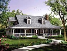 Elevation of Country   House Plan 90230