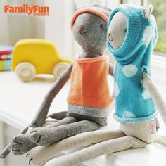 Sock Couture: A few snips are all it takes to turn orphaned socks into sweet outfits for beloved (but chilly) stuffed animals.