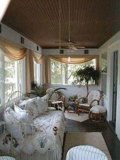 sleeping porch. Turn the porch into an extra bedroom at the farm!