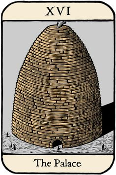 """Tarot card: """"The Tower"""" (the palace)"""