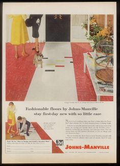 Johns-Manville flooring ad with Mini Schnauzer