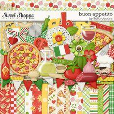 digit scrapbook, digit scrabook, digiscrap, cookbook, buon appetito, scrapbook kit, pizza kit, pizzas, lliella design