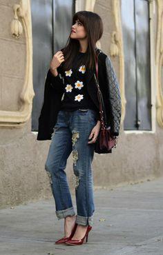 Street Style Spotlight:  Ways To Wear Boyfriend Jeans