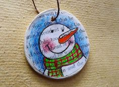 Paper Clay Snowman Gift Tag