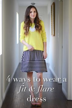 4 Ways to Wear A Fit and Flare Dress