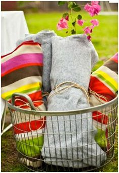Blankets;) Host an Outdoor Movie Night!