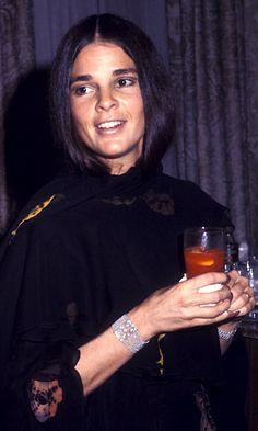 Ali MacGraw enjoying a Bloody Mary, 1971
