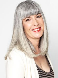 Suzanne grey hair, silver hair