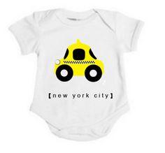 kid wear, nyc taxi, taxi cab, shower idea, new york city