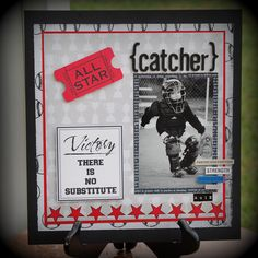 "Baseball Catcher/Little League - Teresa Collins ""Sports Edition II"" - Scrapbook.com"