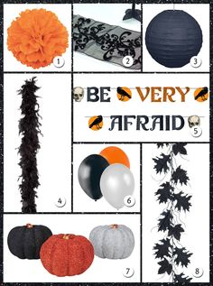 Ideas para una fiesta Halloween elegante, en blog.fiestafacil.com / Ideas for an elegant Halloween party, in blog.fiestafacil.com