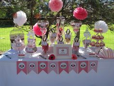 Gorgeous baby shower dessert table! #babyshower #desserttable