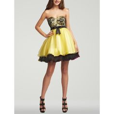 Yellow And Black Prom Dresses 36