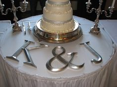 Inititals on cake table