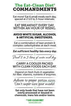 The Eat Clean Diet Commandments