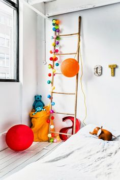 nice corner with lights and ladder - pictures © Paulina Arcklin | Happy Lights Kids eCatalogue