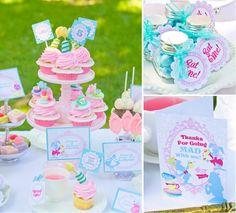 Whimsical Alice in Wonderland Mad Hatter tea party via Kara's Party Ideas karaspartyideas.com #mad #hatter #alice #wonderland #tea #party #idea